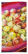 Fuji Apples In The Water Beach Sheet
