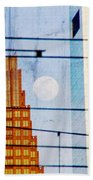 Full Moon In The City Beach Towel