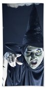 Full Moon Witch Beach Towel