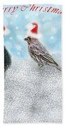 Fun Merry Christmas Card Beach Towel