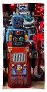 Fun Toy Robots Beach Towel