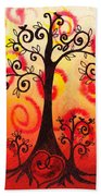 Fun Tree Of Life Impression Vi Beach Towel