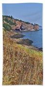 Fundy Bay Coastline Near Cliffs Of Cape D'or-ns Beach Towel