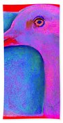 Funky Demoiselle Crane Bird Art Prints Beach Towel