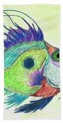 Funky Fish Art - By Sharon Cummings Beach Sheet