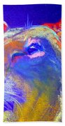 Funky Lioness Jungle Queen Beach Towel