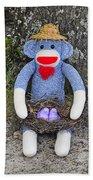 Funky Monkey - Purple Peeps Beach Towel