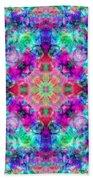Fushia Rainbow Mandala Beach Towel