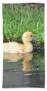 Fuzzy Little Yellow Duck Beach Towel