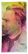 F.w. Nietzsche Beach Towel by Taylan Apukovska