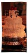 G And V Wedding Cake Beach Towel