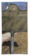 Ga-005-10 Birthplace Of Charles Holmes Herty 1867-1938 Beach Towel