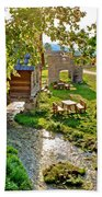 Gacka River Spring Watermill And Historic Ruins Beach Towel
