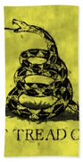 Gadsden Flag - Dont Tread On Me Beach Towel