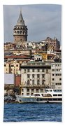 Galata Tower 03 Beach Towel