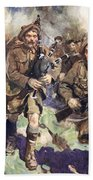 Gallant Piper Leading The Charge Beach Towel by Cyrus Cuneo