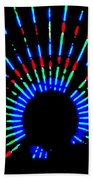 Gama Ray Light Burst Abstract Beach Towel