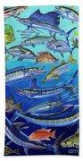 Gamefish Collage In0031 Beach Sheet