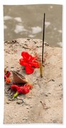 Ganga Worship Beach Towel