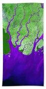 Ganges River Delta Beach Towel