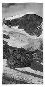 509427-bw-gannett Peak And Gooseneck Glacier, Wind Rivers Beach Towel
