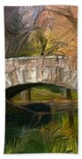 Gapstow Bridge In Central Park Beach Towel