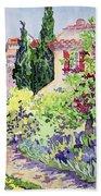 Garden At Vaison Beach Towel