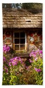 Garden - Belvidere Nj - My Little Cottage Beach Towel by Mike Savad