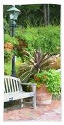 Garden Benches 7 Beach Towel