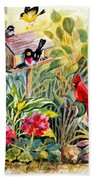 Garden Birds Beach Towel