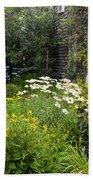 Garden Cottage Beach Towel by Bill Wakeley
