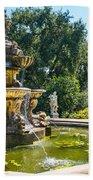 Garden Fountain - Iconic Fountain At The Huntington Library And Botanical Ga Beach Towel
