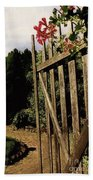 Garden Gate Welcome Beach Towel