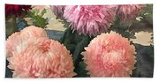 Garden Of Mixed Pink Chrysanthemums Beach Towel