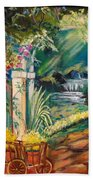 Garden Of Serenity Beyond Beach Towel