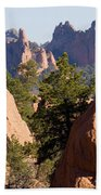 Garden Of The Gods And Red Rocks Open Space Beach Towel