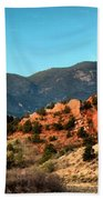 Garden Of The Gods Sunrise Panorama Beach Towel