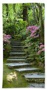 Garden Pathway Beach Towel