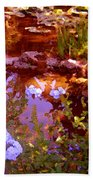 Garden Pond Beach Towel