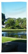Sydney Botanical Garden Lake Beach Towel