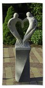 Garden Sculpture Beach Towel