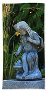 Garden Statuary Beach Towel