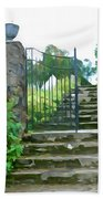Garden Steps Beach Towel
