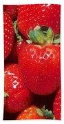 Garden Strawberries Beach Towel