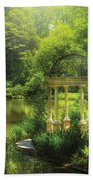 Garden - The Temple Of Love Beach Towel by Mike Savad