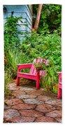 Garden Treasures At Aunt Eden's By Diana Sainz Beach Towel