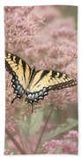 Garden Visitor - Tiger Swallowtail Beach Towel