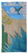 Garden Wall Beach Towel