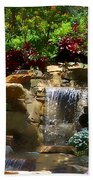 Garden Waterfalls Beach Towel