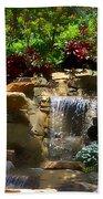 Garden Waterfalls Beach Towel